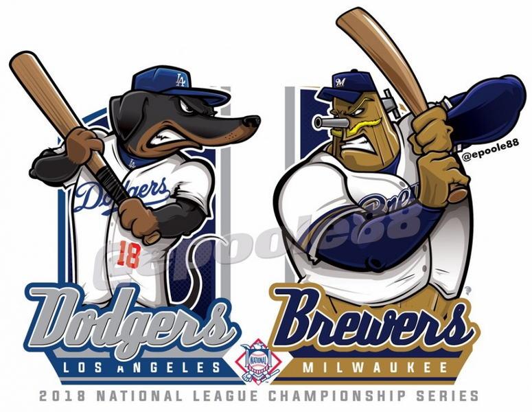 Postseason 2018. NLCS. Milwaukee Brewers @ Los Angeles Dodgers. Game 4