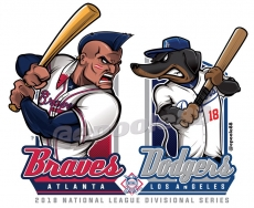 Postseason 2018. NLDS. Los Angeles Dodgers @ Atlanta Braves. Game 4