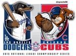 Postseason 2016. NLCS. Los Angeles Dodgers @ Chicago Cubs. Game 1