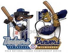 Postseason 2018. NLCS. Los Angeles Dodgers @ Milwaukee Brewers. Game 1